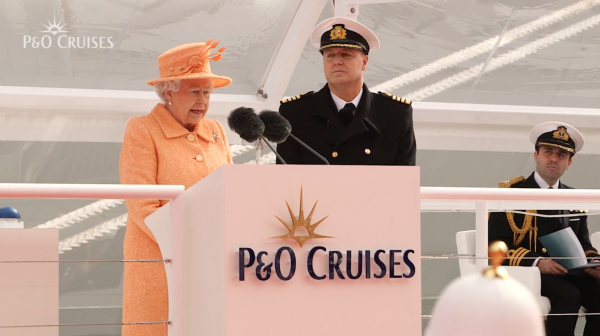 Her Majesty the Queen names Britannia