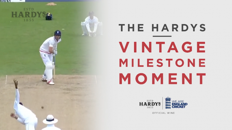 The Hardys Vintage Milestone Moment | Alastair Cook
