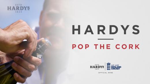 Hardys Pop The Cork | Alastair Cook