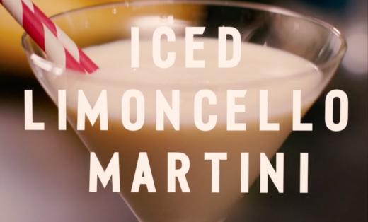 Iced Limoncello Martini