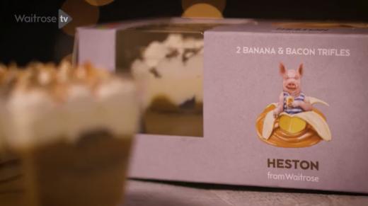 The making of Heston's Banana & bacon trifle