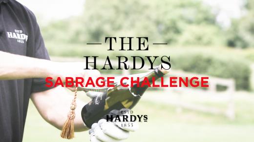 The Hardys Sabrage Challenge | Alastair Cook