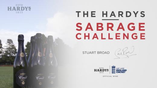 The Hardys Sabrage Challenge | Stuart Broad