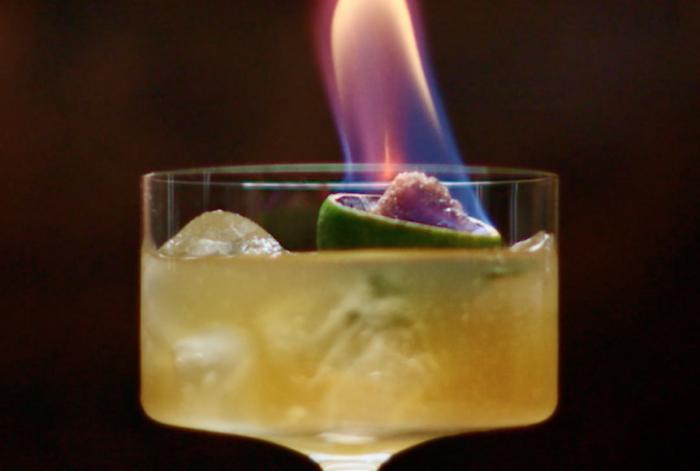 Festive Flaming Sidecar