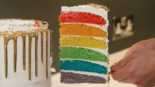 At Home | John Whaite's Pride Rainbow Cake